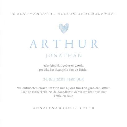 Uitnodigingskaart voor doopviering met duif 3