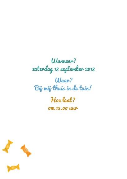 Uitnodigingskaart voor jongen of meisje die 5 jaar wordt 2