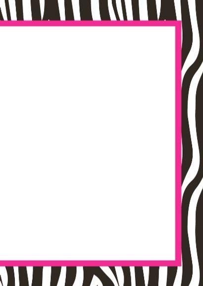 Uitnodigingskaartje zebra 3