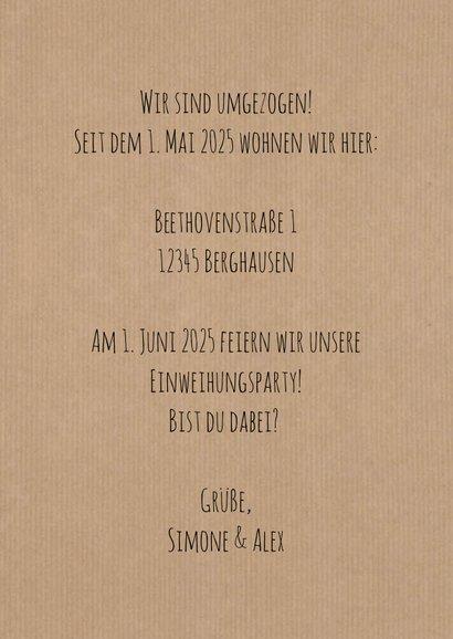 Umzugskarte 'a new home' Schlüsselloch 3
