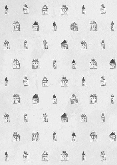 Umzugskarte Häuschen illustriert 2