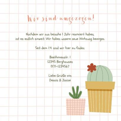 Umzugskarte Kaktushaus 3