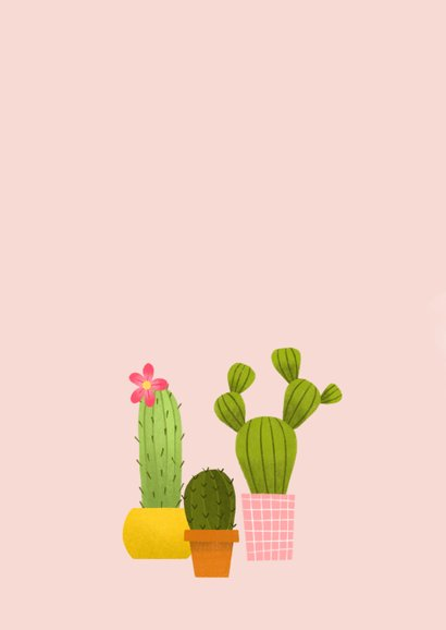 Umzugskarte Kleiner grüner Kaktus 2