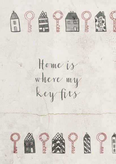 Umzugskarte Schlüssel zum Glück 2