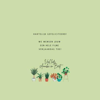 Urban gardening, tuinieren in de stad verjaardagskaart 3