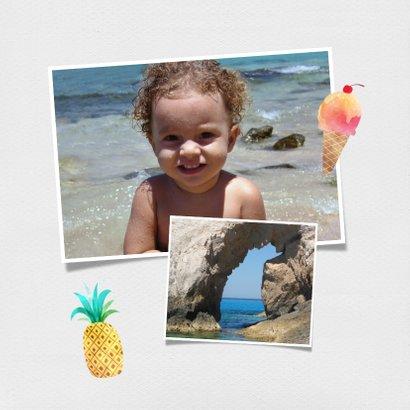 Urlaubskarte eigenes Foto und Flamingo 2