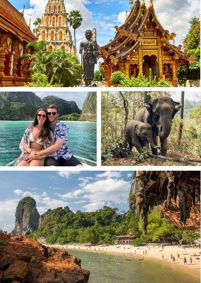 Urlaubskarte großes Foto anpassbares Land 2