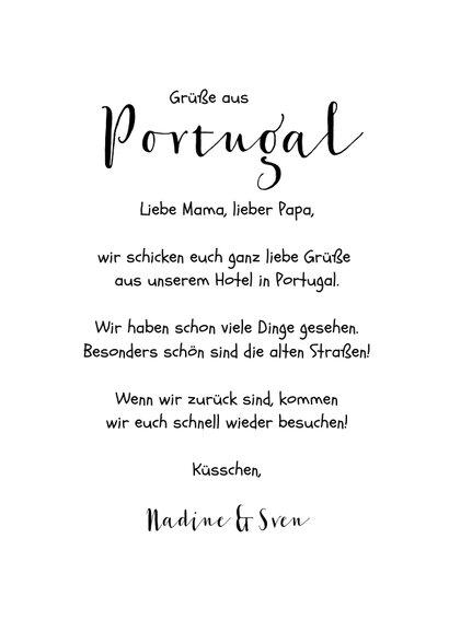 Urlaubskarte Portugal mit Fotos und Herzen 3