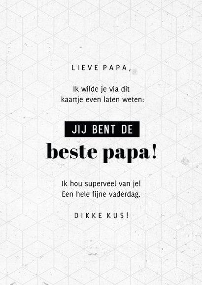 Vaderdag fotocollage jij bent de beste papa grafisch 3