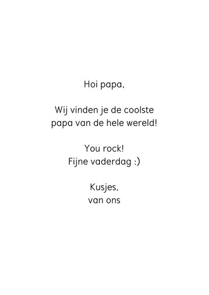 Vaderdag kaart grappig dad you rock 3