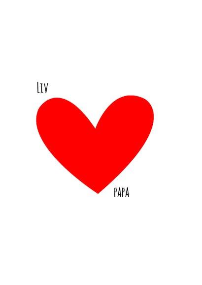 Vaderdag kaart hartjes rood I love you 2