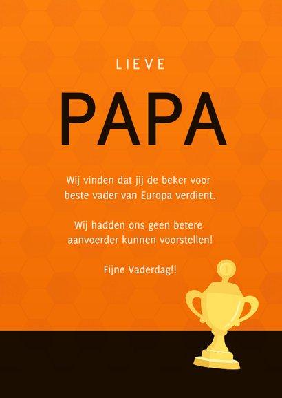 Vaderdag kaart Nr. 1 - voetbalshirt Nederlands elftal 3