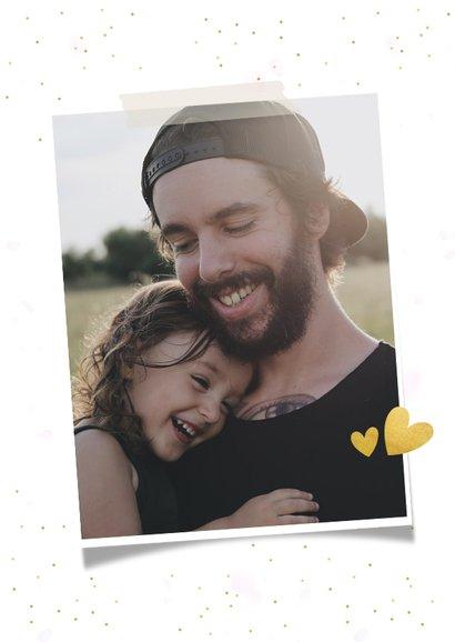 Vaderdag vrolijke fotocollagekaart met 3 foto's en glitters 2
