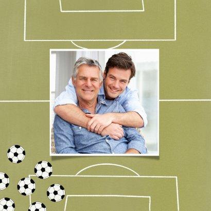 Vaderdagkaart bedankt voor je assists voetbal veld ballen 2