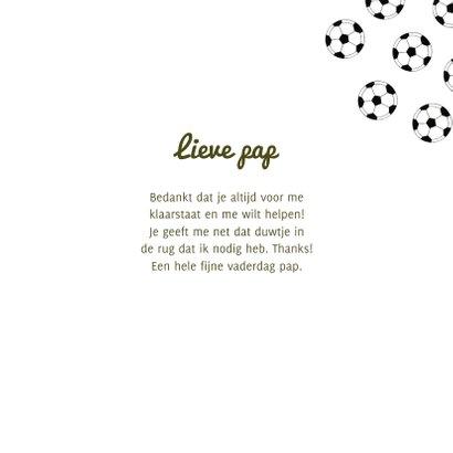 Vaderdagkaart bedankt voor je assists voetbal veld ballen 3