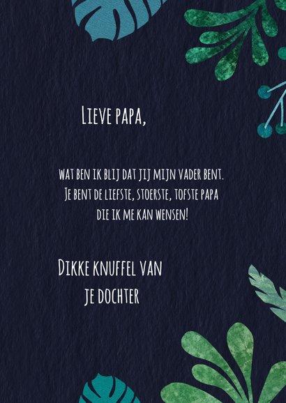 Vaderdagkaart botanisch in groen en blauwtinten 3