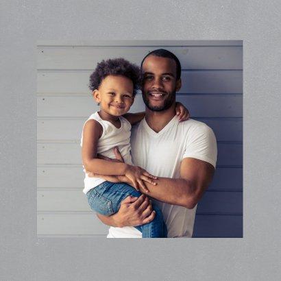 Vaderdagkaart 'coolste bonusvader' met grote foto 2
