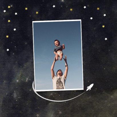 Vaderdagkaart coolste vader van het universum goud 2