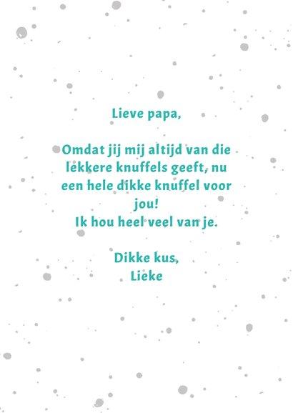 Vaderdagkaart een knuffel voor de beste papa 3