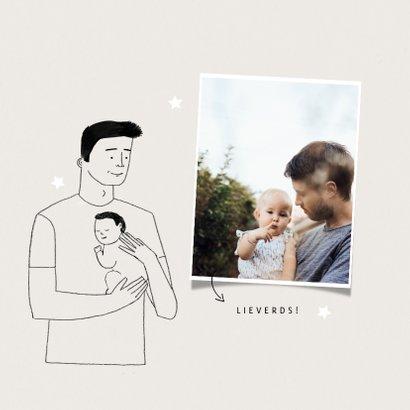 Vaderdagkaart eerste vaderdag met foto en portretje 2