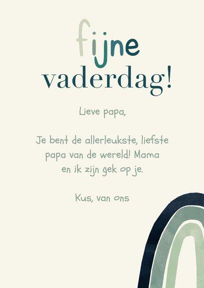 Vaderdagkaart eerste Vaderdag regenboog typografisch 3