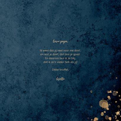 Vaderdagkaart goud en donkerblauw 'voor de liefste papa' 3