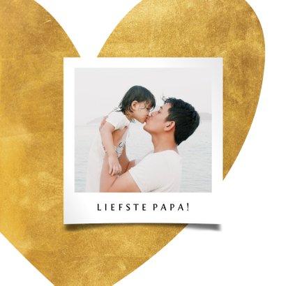 Vaderdagkaart gouden hart met foto 2