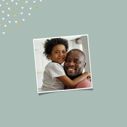 Vaderdagkaart grote foto met goudlook hartjeskader 2