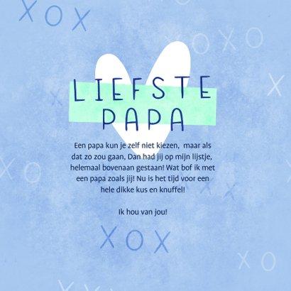 Vaderdagkaart heel veel kusjes voor de liefste papa 3