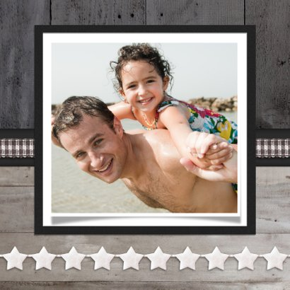 Vaderdagkaart Hout Ster Foto  2