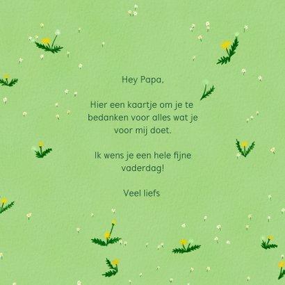 Vaderdagkaart I love papa in gras gemaaid 3