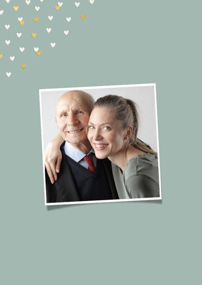 Vaderdagkaart liefste opa met goudlook hartjeskader 2