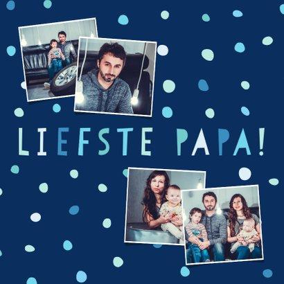Vaderdagkaart 'liefste papa' fotocollage met confetti 2