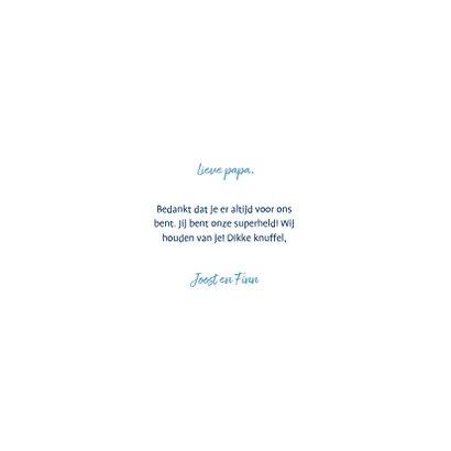Vaderdagkaart 'liefste papa' fotocollage met confetti 3