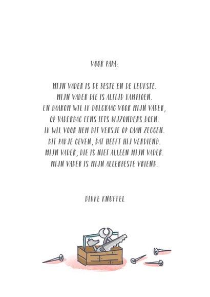 Vaderdagkaart met 9 vaderfiguurtjes 3