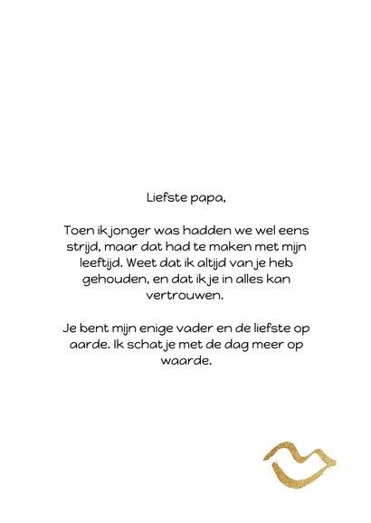 Vaderdagkaart met gouden kusjes en quote 3