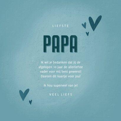 Vaderdagkaart met hartjes de liefste PAPA dat ben jij 3