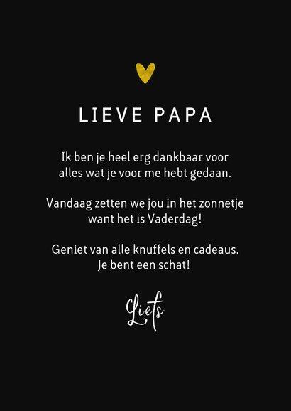 Vaderdagkaart papa goud waard stijlvol typografisch 3