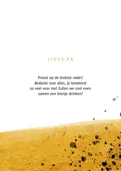 Vaderdagkaart proost bier en spetters met foto 3