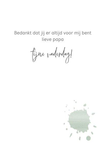 Vaderdagkaart spetter, aanpasbare tekst 3