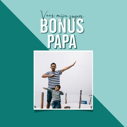 Vaderdagkaart super bonus papa typografisch blauw 2