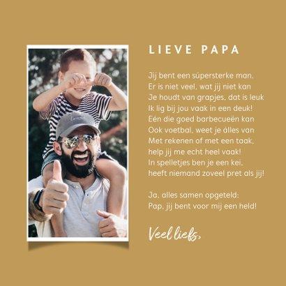 Vaderdagkaart super papa confetti typografie 3
