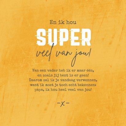 Vaderdagkaart super papa superman grappig humor foto 3
