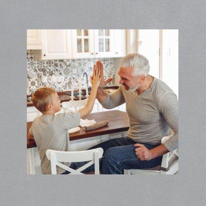 Vaderdagkaart 'super stiefvader' met grote foto en tekst 2