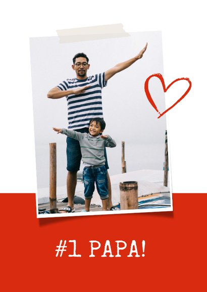 Vaderdagkaart voetbalshirt rood wit met naam  2