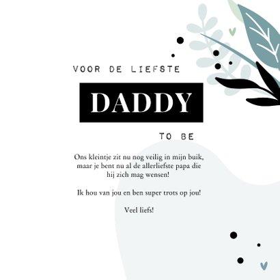 Vaderdagkaart voor de liefste daddy to be met blaadjes 3