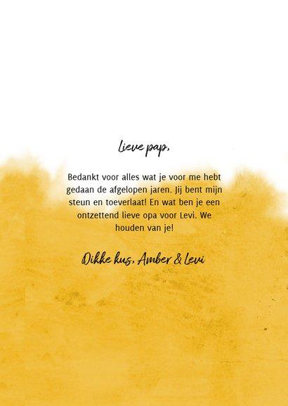 Vaderdagkaart voor de liefste papa en opa met hartje 3