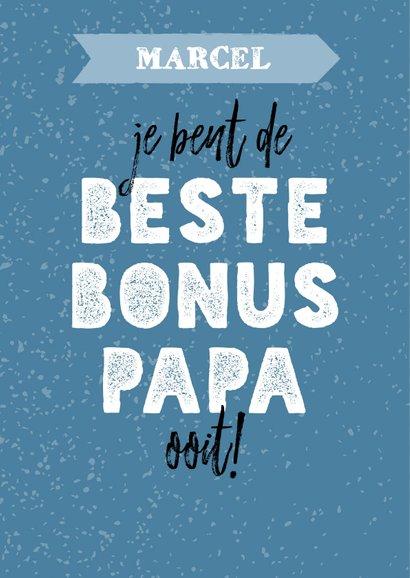 Vaderdagkaart voor een bonus papa met aanpasbare naam 2