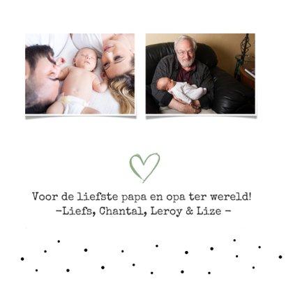 Vaderdagkaart voor opa  met handlettering tekst en naam 3