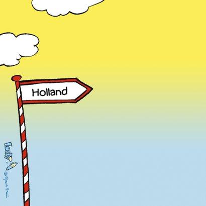 Vakantie Loeki wagen volgeladen Holland - A 2
